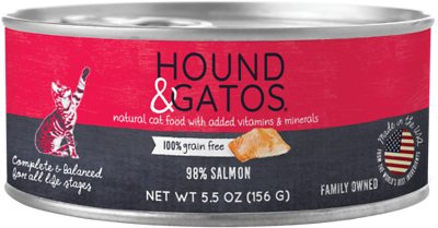 Hound & Gatos 98% Salmon Grain-Free Canned Cat Food