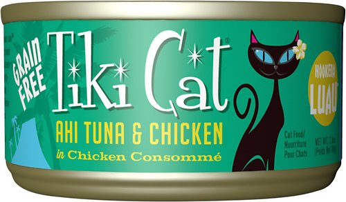 Tiki Cat Hookena Luau Ahi Tuna & Chicken in Chicken Consomme Grain-Free Canned Cat Food