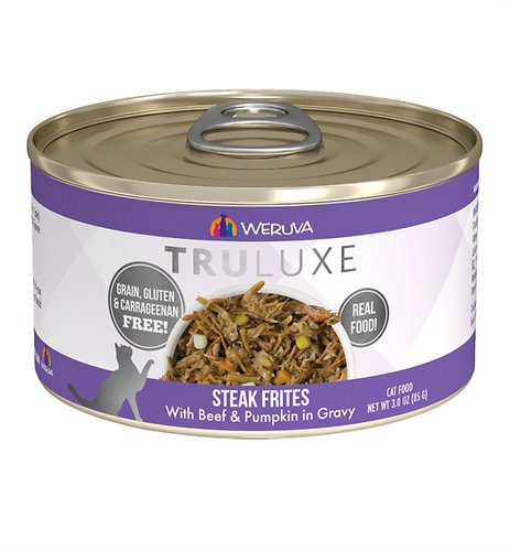 Weruva TruLuxe Grain-Free Steak Frites with Beef & Pumpkin in Gravy