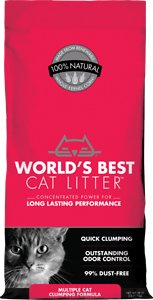 World's Best Cat Litter Clumping Formula Litter for Multiple Cats