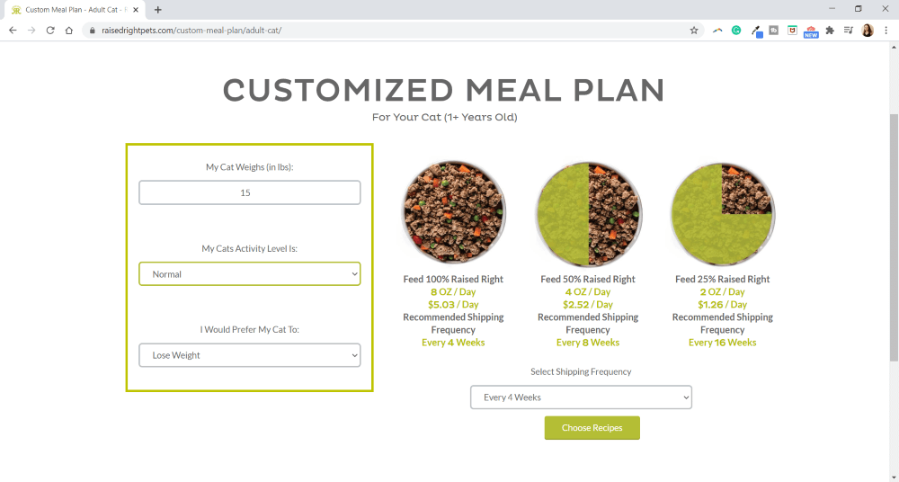 Raised Right Subscription Page