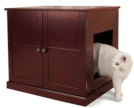 Meow Town Concord Litter Box Cabinet Furniture for Cats and Kittens