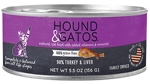 Hound & Gatos Turkey & Turkey Liver Canned Cat Food Review