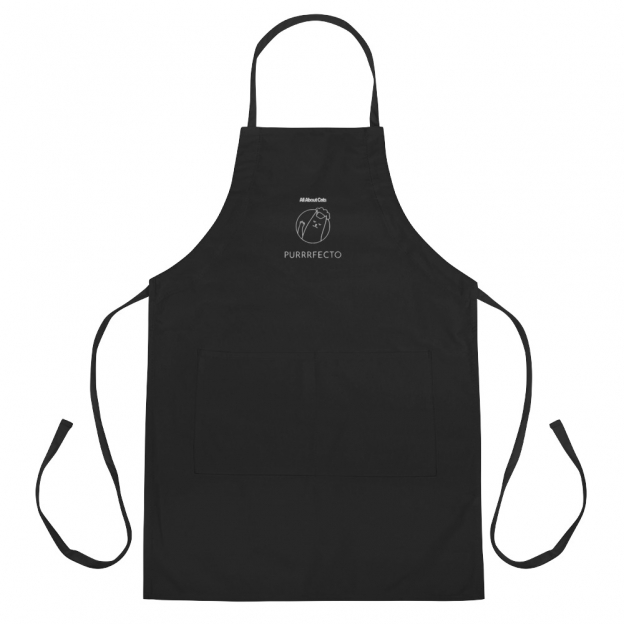 Embroidered Apron Purrrfecto